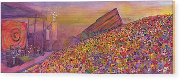 Furthur At Redrocks 2011 Wood Print