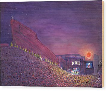 Furthur Red Rocks Equinox Wood Print