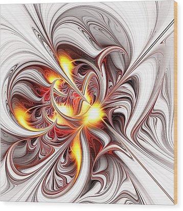 Fury Wood Print by Anastasiya Malakhova