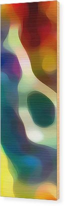 Fury Panoramic Vertical 2 Wood Print by Amy Vangsgard