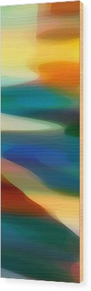 Fury Panoramic Vertical 3 Wood Print by Amy Vangsgard