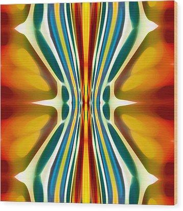 Fury Pattern 6 Wood Print by Amy Vangsgard