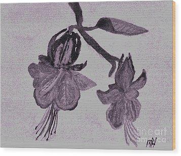 Fushia Angel Shadow Wood Print by Marsha Heiken