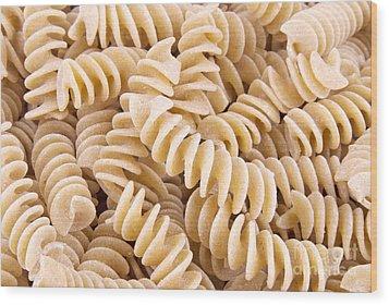 Fusilli Rotini Pasta  Wood Print