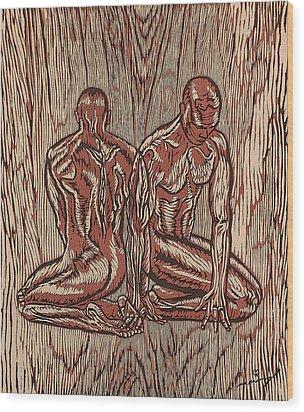 Fusion Wood Print by Maria Arango Diener