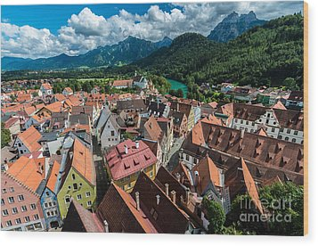 Fussen - Bavaria - Germany Wood Print by Gary Whitton