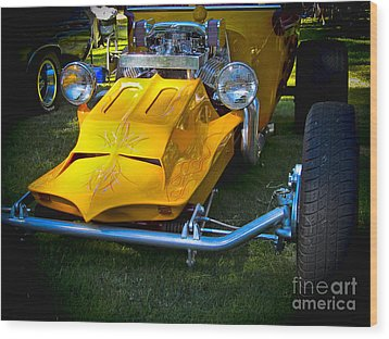 Future Rod Wood Print by Ron Roberts