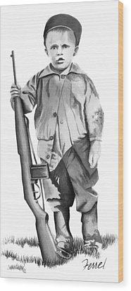 Future Trooper Wood Print by Ferrel Cordle