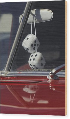 Fuzzy Dice 2 Wood Print by Jill Reger