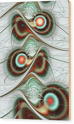 Fuzzy Feelings Wood Print by Anastasiya Malakhova