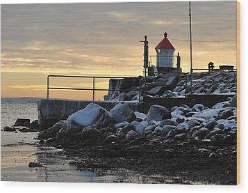 Fyllinga Lighthouse Wood Print by Randi Grace Nilsberg