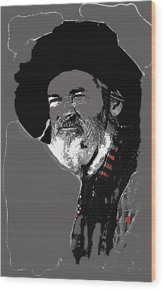 Gabby Hayes #3 Wood Print by David Lee Guss