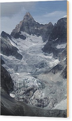 Gabelhorngletscher Wood Print by David Broome