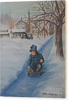 Gails Christmas Adventure Wood Print by Lora Duguay