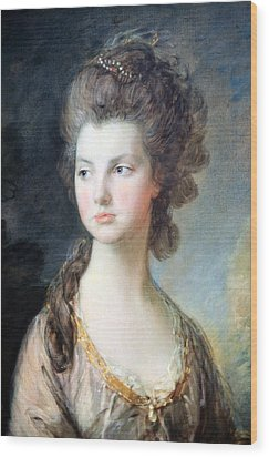 Gainsborough's The Hon. Mrs. Thomas Graham Up Close Wood Print