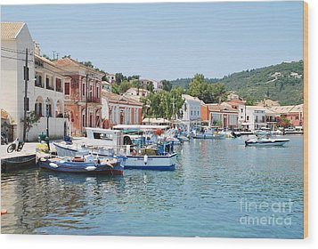 Gaios Harbour On Paxos Wood Print