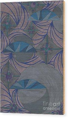 Galactic Wood Print by Kim Sy Ok