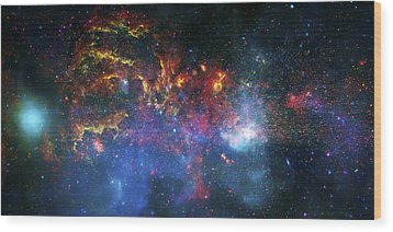 Galactic Storm Wood Print by Jennifer Rondinelli Reilly - Fine Art Photography