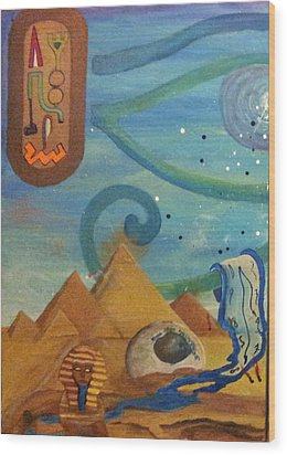 Galactic War Egyptian Release  Wood Print by TheKingofIdeas TKOI