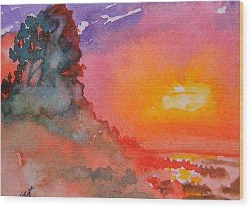 Galapagos Sunset Wood Print by Warren Thompson