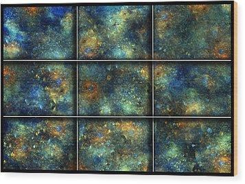 Galaxies II Wood Print by Betsy Knapp