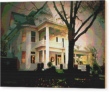 Galesburg House Wood Print