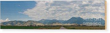 Gallatin Range Panoramic Wood Print by Charles Kozierok