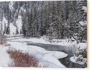 Gallatin River Wood Print by Meagan Suedkamp