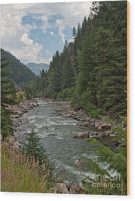 Gallatin River Ripples Wood Print