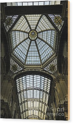Gallery Glass Roof Of The City Hall Building Wood Print by Sami Sarkis