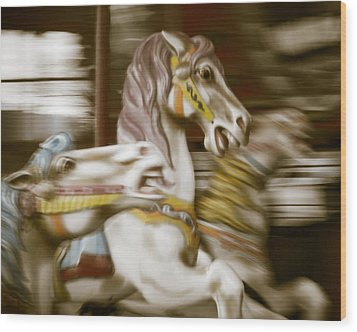 Gallop 1 Wood Print by Takeshi Okada