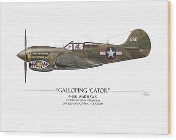 Galloping Gator P-40k Warhawk Wood Print by Craig Tinder