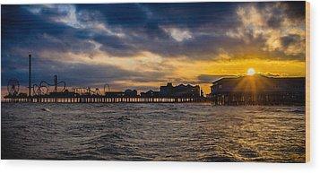 Wood Print featuring the photograph Galveston Pleasure Pier by Allen Biedrzycki