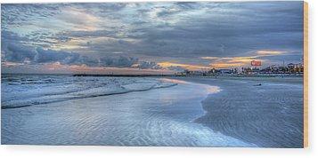 Galveston Sunset Wood Print