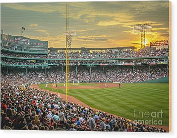 Fenway Park Wood Print by Mike Ste Marie