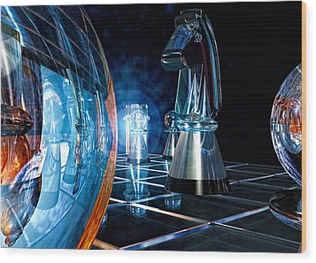 Game Transparent  Wood Print by Bob Orsillo