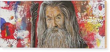 Gandalf Wood Print by Anastasis  Anastasi