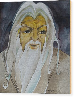 Gandalf The White Wood Print by Patricia Howitt