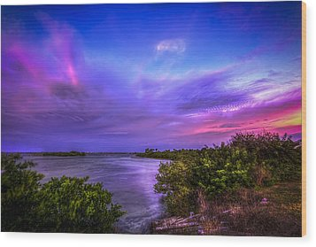 Gandy Lagoon 2 Wood Print by Marvin Spates