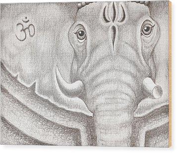 Ganesh Wood Print by Adam Wood