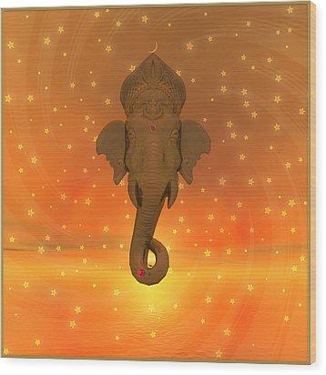 Ganesh II Wood Print