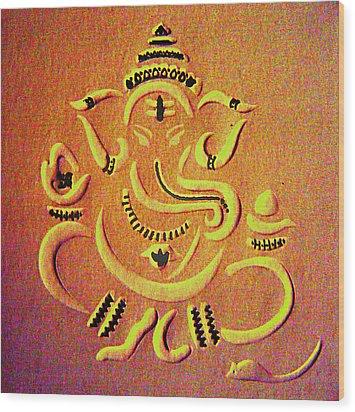 Ganesha Pietyz Wood Print