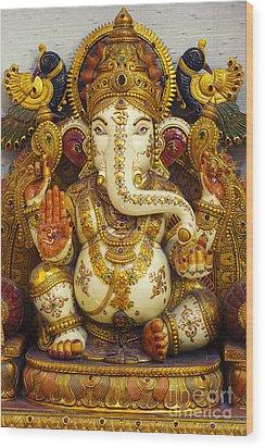 Ganesha  Wood Print by Tim Gainey