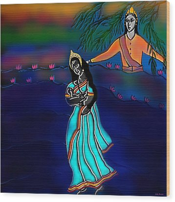 Ganga Devi And Santhanu Wood Print