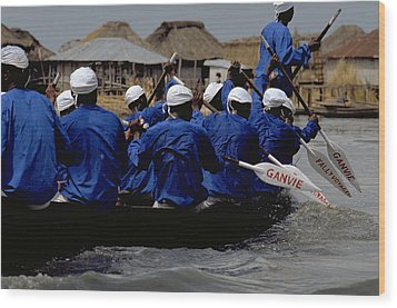 Wood Print featuring the photograph Ganvie - Lake Nokoue by Travel Pics
