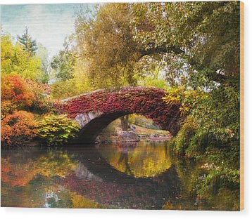 Wood Print featuring the photograph Gapstow Bridge  by Jessica Jenney