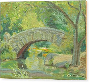 Gapstow Bridge Ny Wood Print
