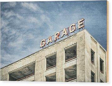 Garage Wood Print by Scott Norris
