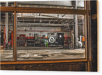 Wood Print featuring the photograph Garage Window by Ray Congrove