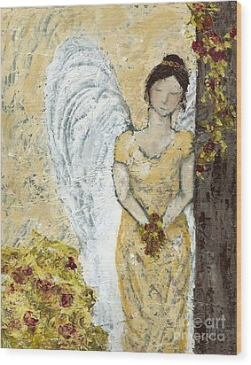 Garden Angel Wood Print by Kirsten Reed